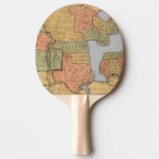 Carte des Etats-Unis et du Canada Raquette De Ping Pong