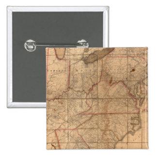 Carte des Etats-Unis par le junior d'Abraham Bradl Badges
