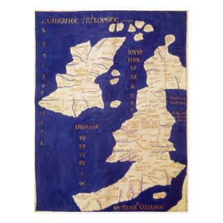 Carte des îles britanniques, de 'Geographia Carte Postale