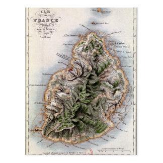 Carte des Îles Maurice, illustration 'Paul et