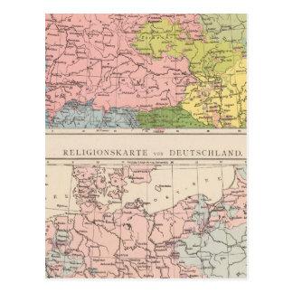 Carte des langues et des religions en Allemagne