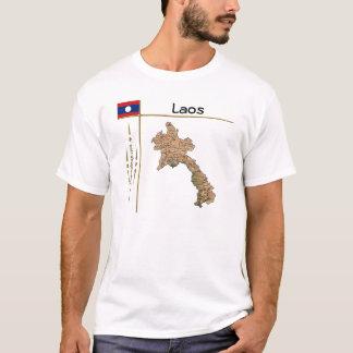 Carte des Laotiens + Drapeau + T-shirt de titre