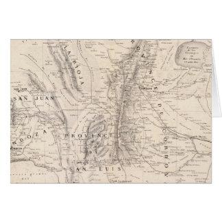 Carte des provinces de Cordova et de San Luis
