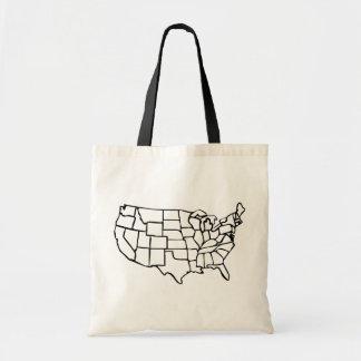 Carte des USA Sacs De Toile