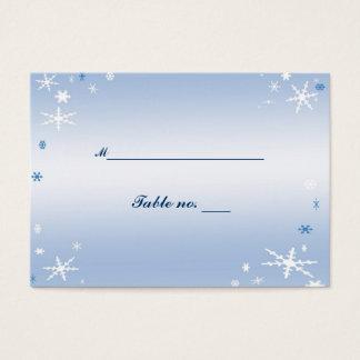 Carte d'escorte de mariage d'hiver