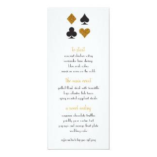 Carte Destin Las Vegas épousant le scintillement d'or de