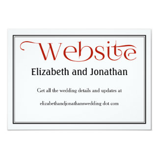 Carte détail noire et blanche rouge de site Web de Carton D'invitation 8,89 Cm X 12,70 Cm