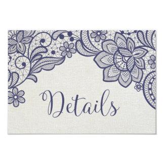 Carte Détails floraux de mariage de la dentelle   de