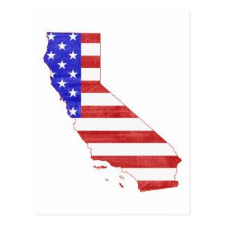 Carte d'état de silhouette de la Californie