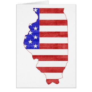Carte d'état de silhouette de l'Illinois