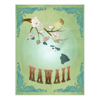 Carte d'état d'Hawaï - vert Carte Postale