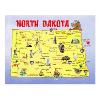 Carte d'état du Dakota du Nord