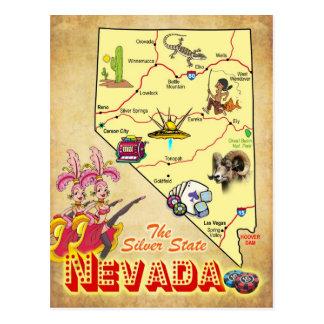 Carte d'état du Nevada Cartes Postales