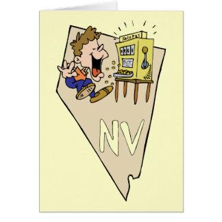 Carte d'état du Nevada nanovolt et bande dessinée
