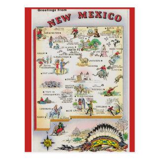 Carte d'état du Nouveau Mexique