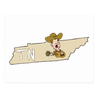 Carte d'état du Tennessee TN et musique de