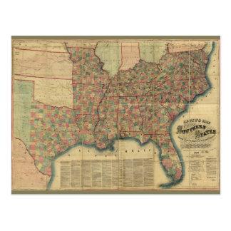 Carte d'états sudiste de guerre civile par J.