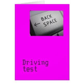 Carte d'examen de conduite