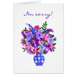 Carte d'excuses - flower power