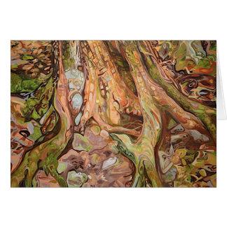 Carte d'exposition de tronc en couleurs