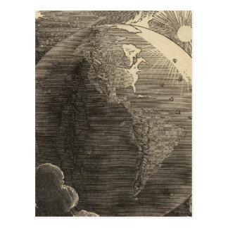 Carte d'hémisphère de l'ouest par Goodrich Cartes Postales