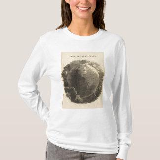 Carte d'hémisphère de l'ouest par Goodrich T-shirt