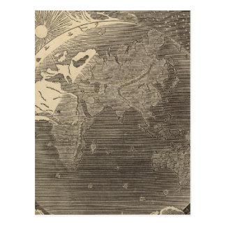 Carte d'hémisphère oriental par Goodrich Cartes Postales