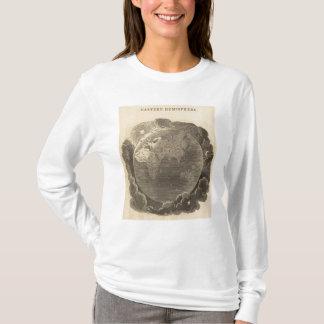 Carte d'hémisphère oriental par Goodrich T-shirt