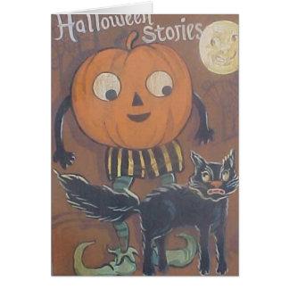 Carte d'histoires de Halloween