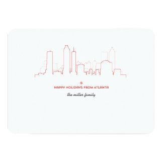 Carte d'horizon de vacances d'Atlanta