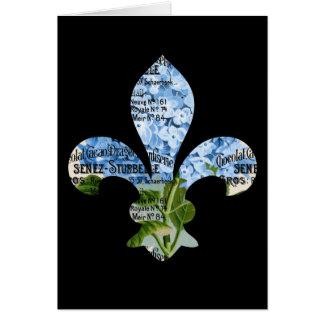 Carte d'hortensia de French Fleur de Lis Blue