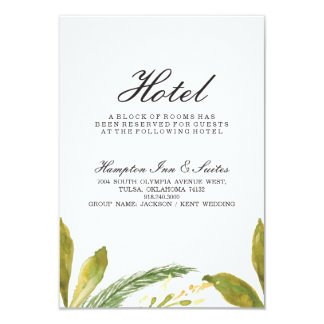 Carte d'hôtel de mariage de automne - verdure