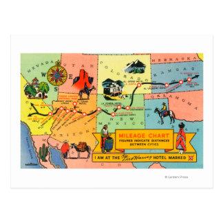 Carte d'hôtel LocationsCA de Fred Harvey à KS