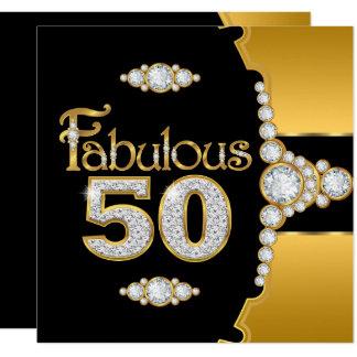 Carte Diamant noir 2 de cinquantième or fabuleux de