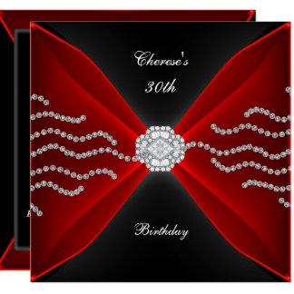 Carte Diamant noir 2 de rouge riche de 30ème