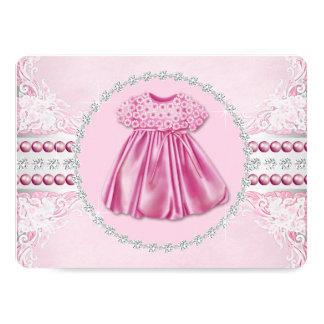 Carte Diamants et baby shower assez roses de perles