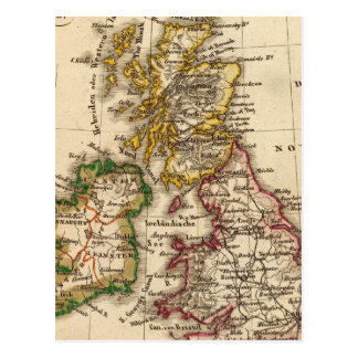 Carte d'îles britanniques carte postale