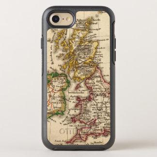 Carte d'îles britanniques coque otterbox symmetry pour iPhone 7
