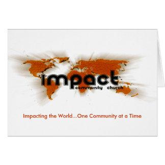 Carte d'impact
