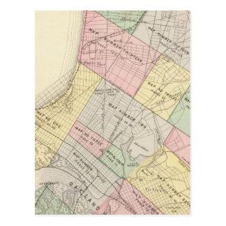 Carte d'index d'Oakland Carte Postale
