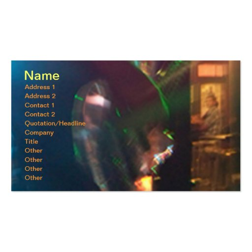 Carte d'industrie musicale de guitare modèles de cartes de visite