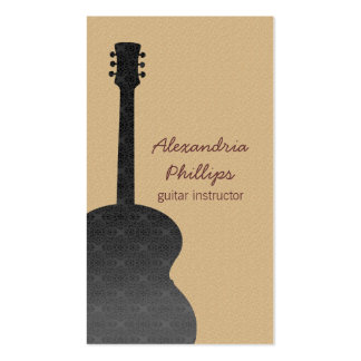 Carte d'industrie musicale de guitare de damassé,  carte de visite standard