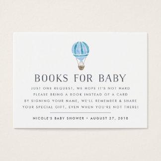 Carte d'insertion de baby shower de ballon de la