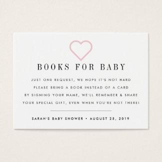 Carte d'insertion d'invitation de baby shower de