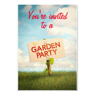 Carte d'invitation à une Garden Party