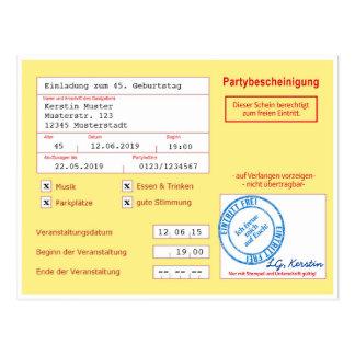 Carte d'invitation comme le certificat/feuille de