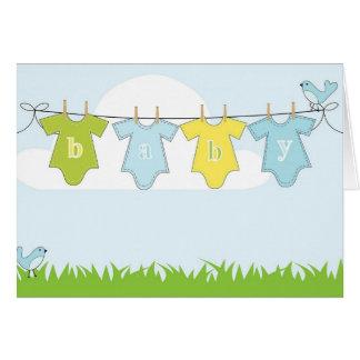Carte d'invitation de baby shower