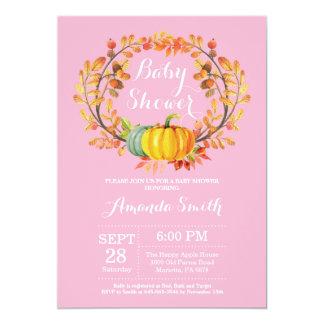 Carte d'invitation de baby shower de citrouille carton d'invitation  12,7 cm x 17,78 cm