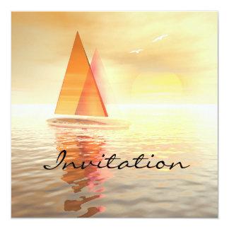 Carte d'invitation de célébration de navigation