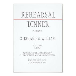 Carte d'invitation de dîner de répétition dans le